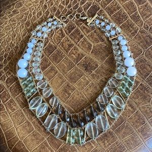 Beautiful gold, translucent, white necklace